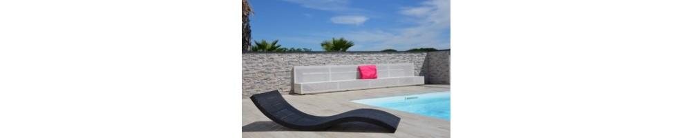 Banc dissimulation volet piscine sur mesure